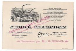 LYON Rue Ste Pauline, CHIMIE.  André BLANCHON Anc Maison Ribollet Et Termier - Cartoncini Da Visita