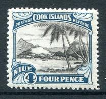 Niue 1932 Pictorials - No Wmk. - 4d Port Of Avarua - Perf. 14 - HM (SG 59a) - Niue