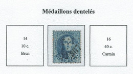 COB 14/16 Médaillons Dentelés -  Bureau De Poste De :   L 367  TURNHOUT - 1863-1864 Medallions (13/16)