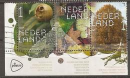 Pays-Bas Netherlands 2019 Arbres Trees Corner Block Obl - Gebraucht