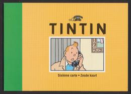 Télécarte - Thématique BD : Télécarte Tintin Dans Sa Pochette D'origine (Sixième Carte, 4000 Exemplaires, N°0762) - Comics