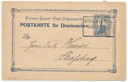 C410 - Poste Privée STRASBOURG - Privatpost STRASSBURG - 26 10 87 - Entier Postal Type CATHEDRALE 2 Pfennig - - Elsass-Lothringen