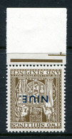 Niue 1941-67 New Zealand Overprints - Wmk. Mult. NZ & Star - Arms Postal Fiscals - 2/6 Brown - Wmk. Inv. LHM (SG 83w) - Niue