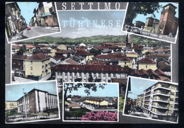 SETTIMO TORINESE - TORINO - 1964 - 6 VEDUTINE - ACQUERELLATA - Altri