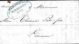 France. LAC Marseille > Livourne 3/4/1845  Cie De Navigation Fraissinet, Navire L'Océan - 1801-1848: Precursori XIX