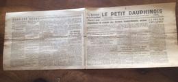 """Journal """"Le Petit Dauphinois. 1944. La """"cruauté"""" Du """"bombardement De Paris Et De Sa Banlieue"""" - Unclassified"""
