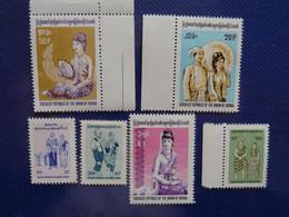 Myanmar Burma Lote 6 Sellos Nuevos Antiguos. - Myanmar (Burma 1948-...)