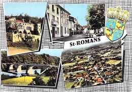 38 - SAINT ROMANS : Jolie Multivues - CPSM Village ( 1.785 H ) Dentelée Colorisée Grand Format Postée 1964 - Isère - Sonstige Gemeinden