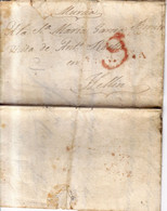 Año 1840 Prefilatelia Carta De La Puebla De Don Fadrique Marcas Huescar Granada  Y Porteo Rojo .compra De Viñedos - ...-1850 Vorphilatelie