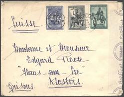 1941 BELGIO Soccorso Invernale S. Martino I C.35 + F.1,50 E 1,75 Su Busta Bruxelles (20.12.41) Per La Svizzera - Covers & Documents