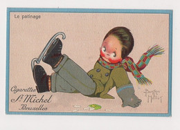 PETIT ILLUSTRATEUR D'ENFANTS : B.MALLET - PUB. CIGARETTES ST MICHEL -BRUXELLES - SPORT :LE PATINAGE - Mallet, B.