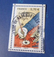 5098.OBLITERATION RONDE  SUR TIMBRE NEUF  PLUMES - Used Stamps