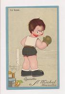 PETIT ILLUSTRATEUR D'ENFANTS : B.MALLET - PUB. CIGARETTES ST MICHEL -BRUXELLES - SPORT  LA  BOXE - Mallet, B.