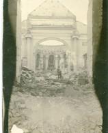 PHOTO ALLEMANDE - INTERIEUR DE L'EGLISE DE BADONVILLER PRES DE PEXONNE MEURTHE ET MOSELLE - GUERRE 1914 1918 - 1914-18