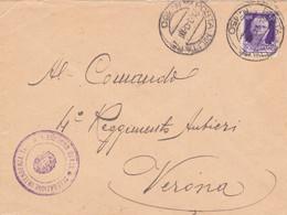 1943 POSTA MILITARE/N 150 (27.3) E Tondo Deleg Intend. Tunisia Su Busta Affr. - Poststempel