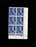 """Coins Datés- Mercure 50c. Bleu """" Neuf** Du 18.8.39 - 1930-1939"""