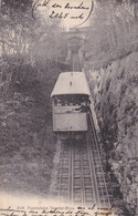FUNICULAIRE TERRITET-GLION. CHIFFELLE & CIE. SUISSE CPA, CIRCULEE 1909 A BUENOS AIRES -LILHU - VD Vaud