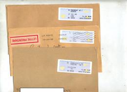 3 Fragments De  Lettres Vignette Bureau à Voir Annexe - 2000 «Avions En Papier»