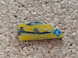 PINS AUTOMOBILE CORVETTE JAUNE SOLIDO - Corvette