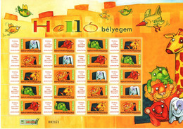 Specials - Hungary 2008. Hello Stamps, Full Personal Sheet, Rare Issue ! MNH (**) Michel: 5314-5318 - Nuevos