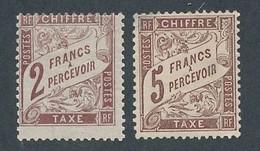 DT-150: FRANCE: Lot Avec Taxes N°26*-27* (2ème Choix, Clair) - 1859-1955 Postfris