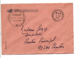 LETTRE DE SERVICE PTT DE DIRECTION DES SERVICES AMBULANTS 1974 - 1961-....