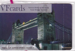 GREECE - London, Tower Bridge, VF Promotion Prepaid Card, Tirage 50, Mint - Telefoonkaarten