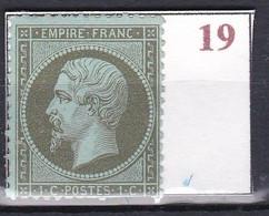 France Timbre De 1862 Napoléon III YT 19 Neuf - 1862 Napoléon III