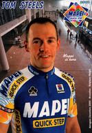 "CICLISMO-"" TOM STEELS "" MAPEI -PROFESSIONAL CYCING TEAM-2001- - Cycling"