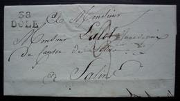38 / DOLE (Jura) , 1820 Marque 20 X 12, Bien Frappée  Sur Lettre Pour Salins, à Propos D'un Partage De Vignes - 1801-1848: Precursores XIX
