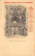 Rouen - Porte Nord De La Cathédrale + Pub Chemins De Fer De L'Ouest Et De Brighton - Rouen