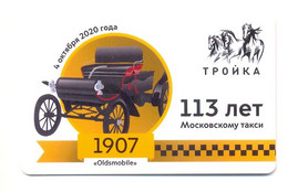 Russia Moscow Transport Card Troika Metro 2020 Oldsmobile Retro Taxi 113 Years - Russland