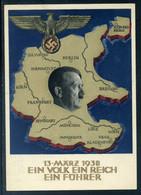 """Ostmark; Anschlußkarte An Österreich """" Ein Volk Ein Reich Ein Führer """"; 13. 3. 1938 - Personen"""