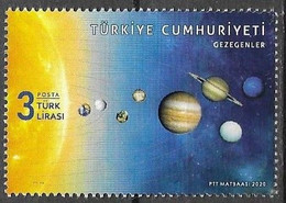 TURKEY, 2020, MNH, PLANETS, SOLAR SYSTEM,1v - Astronomie