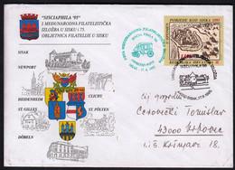 Croatia Sisak 1995 / SISCIAPHILA '95, 1stInternational Philatelic Exhibition In Sisak / Old Car, Coat Of Arms - Exposiciones Filatélicas