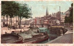 3941  Carte Postale NANTES Quais De L'Erdre     Tampon Verso A DUTEIL 17 Rue Des Perrières Nantes 44  Loire Atlantique - Nantes