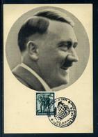 Ostmark; Seltene Portrait-Karte Von Adolf H. M. Sonderstempel Braunau; 20. 4. 1938 - Weltkrieg 1939-45
