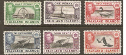 Falkland Islands  1938  Various Values Mounted Mint - Falkland