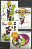 4 Pcs NEVIS - MNH - Walt Disney - Sport - Disney