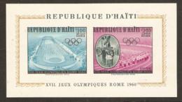 Haiti  1960 SG Ms 715 Rome  Olympics Miniature Sheet Unmounted Mint - Summer 1960: Rome