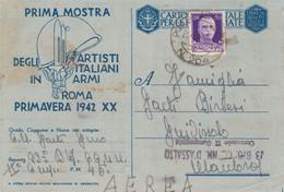 1941 POSTA MILITARE/N 204 (21.9) E Lineare 23 Btg CC.NN, D'Assalto Su Cartolina Franchigia Via Aerea - Marcophilia