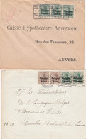 Deutsches Reich Belgien 2 Briefe 1914-18 - Bezetting 1914-18