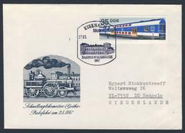 DDR Germany 1987 Brief Cover - Bahnhof Eisenach (1902-1904) / Railway Station / Gare - Trains