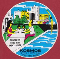 Sticker Autocollant Hotel Kosmos Westouter Rodeberg Mont Rouge Heuvelland  Aufkleber Adesivo - Stickers