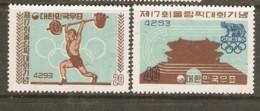 Korea   1960   SG 3368-9 Rome Olympics Unmounted Mint - Ete 1960: Rome