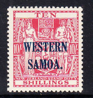 1955 Western Samoa 10/- Definitive SG 233 MNH - Samoa