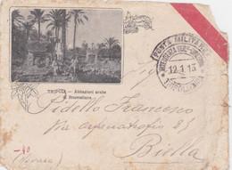 1913 POSTA MILITARE/INTENDENZA GEN-DIREZIONE/TRIPOLITANIA C.2 Con Cartiglio (12.1) Su Busta - Libia