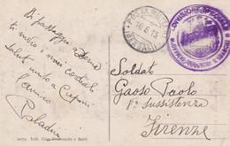 1913� DIVISIONE SPECIALE/UFFICIO IMBARCHI E SBARCHI Tondo Su Cartolina (Derna Cimitero Arabo) Viaggiata Posta Militare/( - Libia