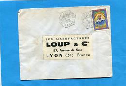 Marcophilie+ALGERIE--lettre  >Françe-cad  Hexagonal  TINEOLA EL BERO-1974- -stamps - Central African Republic