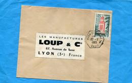 Marcophilie+ALGERIE--lettre  >Françe-cad  Hexagonal KSAR EL HIRANE-1963- -stamps - Central African Republic